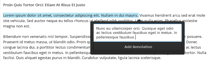 An annotation window open with the Add Annotation button showing