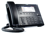 Voice over IP (VoIP) phone, Mitel 6863i, is shown.