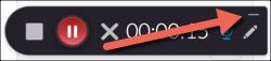 Kaltura Capture toolbar. Minimize highlighted.