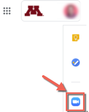 Google Calendar side panel with integrated app icons. Zoom for GSuite highlighted.