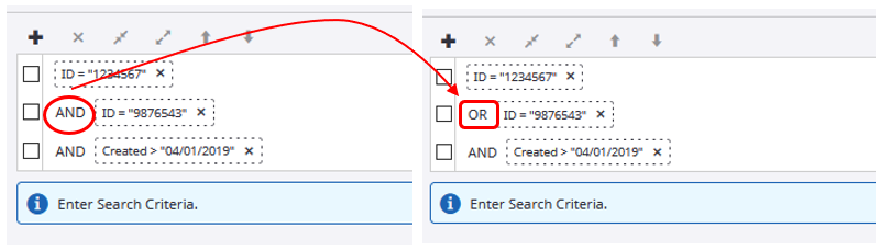 AND operator in Constraint box is circled