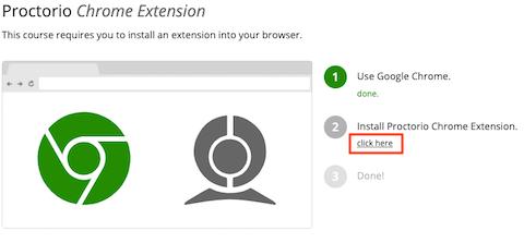Get Proctorio Chrome Extension page